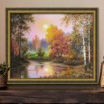 """Набор для картины стразами """"Осенние сумерки"""" """"Алмазная живопись"""""""