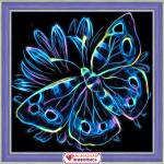 """Набор для картины стразами """"Неоновая бабочка"""" """"Алмазная живопись"""""""