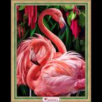 """Набор для картины стразами """"Пара фламинго"""" """"Алмазная живопись"""""""