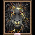 """Набор для картины стразами """"Лавовый лев"""" """"Алмазная живопись"""""""