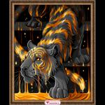 """Набор для картины стразами """"Тигр в золоте"""" """"Алмазная живопись"""""""