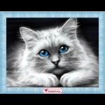 """Набор для картины стразами """"Голубоглазая кошка"""" """"Алмазная живопись"""""""