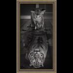 """Набор для картины стразами """"Тигр внутри"""" """"Алмазная живопись"""""""