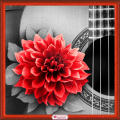 """Набор для картины стразами """"Цветок на гитаре"""" """"Алмазная живопись"""""""