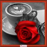 """Набор для картины стразами """"Роза и кофе"""" """"Алмазная живопись"""""""