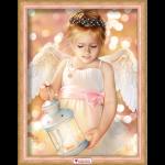 """Набор для картины стразами """"Ангел с фонариком"""" """"Алмазная живопись"""""""