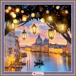 """Набор для картины стразами """"Вечерняя Венеция"""" """"Алмазная живопись"""""""