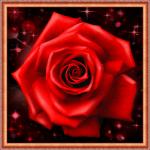"""Набор для картины стразами """"Сверкающая роза"""" """"Алмазная живопись"""""""