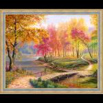 """Набор для картины стразами """"Осень в старом парке"""" """"Алмазная живопись"""""""
