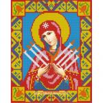 """Набор для картины стразами """"Икона Семистрельная Богородица"""" """"Алмазная живопись"""""""