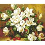 """Набор для картины стразами """"Букет белых цветов"""" """"Алмазная живопись"""""""