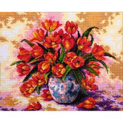 """Набор для картины стразами """"Тюльпаны в вазе"""" """"Алмазная живопись"""""""