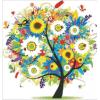 """Набор для картины стразами """"Дерево в цветах"""" """"Алмазная живопись"""""""