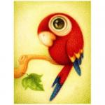 """Набор для картины стразами """"Красный попугай"""" """"Алмазная живопись"""""""