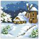 """Набор для картины стразами """"Домик в снегу"""" """"Алмазная живопись"""""""