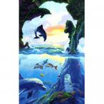 """Набор для картины стразами """"Дельфины"""" """"Алмазная живопись"""""""
