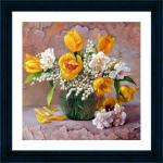 """Набор для картины стразами """"Желтые тюльпаны"""" """"Color Kit"""""""