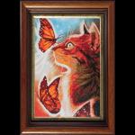 """Набор для картины стразами """"Кошка с бабочками"""" """"Color Kit"""""""