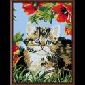 """Набор для раскрашивания """"Котенок в цветах"""" 30х40см """"Color Kit"""""""