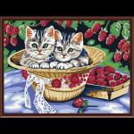 """Набор для раскрашивания """"Котята в саду"""" 30х40см """"Color Kit"""""""