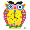 """Набор для творчества из пластичной замши """"Часы Сова"""" """"Color Kit"""""""