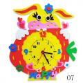 """Набор для творчества из пластичной замши """"Часы Зайка"""" """"Color Kit"""""""