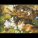 """Набор для раскрашивания """"Семейство кошачьих"""" 30х40см """"Color Kit"""""""