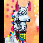 "Набор для картины стразами ""Нарядная лама"" ""Color Kit"""