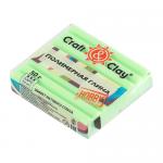 """Полимерная глина CCH с эффектом матового стекла цв. 1406 зелёное яблоко 50гр """"Craft&Clay"""""""