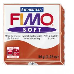 Полимерная глина FIMO Soft индийский красный 56 гр
