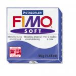 Полимерная глина FIMO Soft блестящий синий 56 гр
