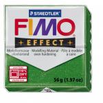 Полимерная глина FIMO Effect зеленый с блестками 56 гр
