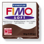 Полимерная глина FIMO Soft шоколадный 56 гр