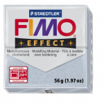 Полимерная глина FIMO Effect серебряный с блестками 56 гр