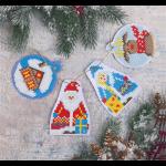 """Набор для картины стразами новогодние игрушки """"Дед Мороз и Снегурочка"""" """"Фрея"""""""