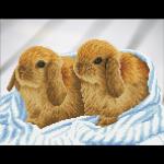 """Набор для картины стразами """"Кролики"""" """"Фрея"""""""