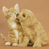 """Набор для картины стразами """"Котёнок и щенок"""" """"Фрея"""""""
