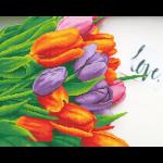"""Набор для картины стразами """"Тюльпаны для любимой"""" """"Фрея"""""""
