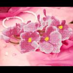 """Набор для картины стразами """"Орхидея"""" """"Фрея"""""""