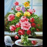 """Набор для картины стразами """"Букет садовых роз"""" """"Фрея"""""""