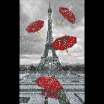 """Набор для картины стразами """"Париж. Летящие зонтики"""" """"Фрея"""""""