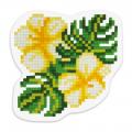 """Набор для картины стразами Магнит """"Тропические цветы"""" """"Фрея"""""""
