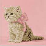 """Набор для картины стразами """"Кошечка с розовым бантиком"""" """"Фрея"""""""