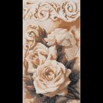 """Набор для картины стразами """"Чайные розы"""" """"Фрея"""""""