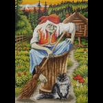 """Набор для картины стразами """"Баба-Яга с котом"""" """"Фрея"""""""