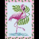 "Набор для картины стразами на картоне с рамкой ""Фламинго"" ""Фрея"""