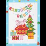 """Набор для картины стразами на картоне с рамкой """"С Новым годом!"""" """"Фрея"""""""