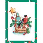 """Набор для картины стразами на картоне с рамкой """"Праздничный набор"""" """"Фрея"""""""