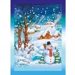 """Набор для картины стразами на картоне с рамкой """"Снежный вечер"""" """"Фрея"""""""