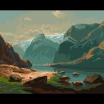 """Набор для раскрашивания """"Озеро в горах Швейцарии"""" 50х40см """"Фрея"""""""